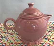 Fiestaware Rose Teapot with Lid Retired Pink Large 44 oz Tea Pot