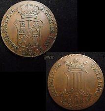 *GUTSE*610-ISABEL II, 6 CUARTOS 1836, CATALUÑA, ESCASA, EBC-