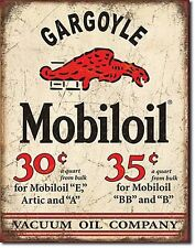 Mobil Gargoyle OIL COMPANY vintage stile retrò in metallo tin sign GAS Garage Decor