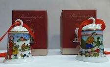 Hutschenreuther Porzellanglocken / Weihnachtsglocken Set: Motive  2014 und 2015
