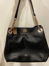 Product 1 : Coach 36855 Turnlock Edie Pebble Leather Shoulder Bag Beachwood -...