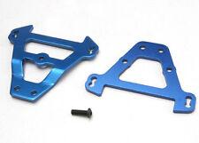 Traxxas Bulkhead tie bars, front & rear (blue-anodized ali) 5323  UK Modelshop