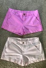 WOMENS KHAKIS BY GAP SUNKISSED SHORTS SIZE 6 PINK AND LIGHT PINK 2 PAIR