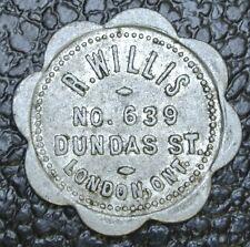 R. WILLIS 639 DUNDAS ST. LONDON, ONTARIO TOKEN - Good For 1 Loaf of Bread - Nice