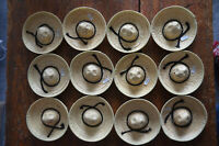 Lot of 12 Doll Sized STRAW HAT SOMBRERO Made in Mexico BOTTLE TOPPER Cinco Mayo
