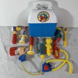 TYCO 1998 Sesame Street Elmo Doctor's Kit Toy w/ Many Accessories Vintage