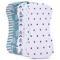 5x 100% Cotton Baby Burp Cloths Burpy Bib Set For Boys and Girls Absorbent Towel