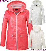 NEW WATERPROOF COAT Festival Rain Mac Ladies coat Womens Jacket Size 8 TO 16 LOI