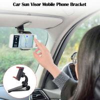 Car Sun Visor Clip Mount GPS Mobile Phone Holder Stand Bracket 360°Rotatable