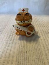 Rare Garfield Enesco Ceramic Figurine Nurse From 1981 Vintage Htf