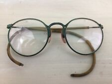 ANTIQUE EYEGLASSES - Vtg 1800s Circle Glasses S Lenses Curved Temple - MUST SEE!