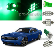 Green LED Interior Light 10PCS Plate Package for Dodge Challenger 2008 2015