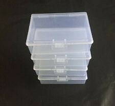 4pcs Transparent Clear Tool box Electronic Component Healthy Safe storage box B