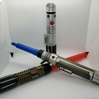 Star Wars Lightsaber Lot of 3 - 2015 2016 Disney Hasbro Toys - Retractable