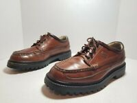 Tommy Hilfiger Brown Leather Lace Up Shoes Men's Size 7.5M 36001 Free Ship.  A55