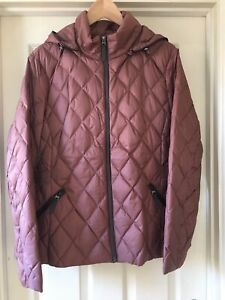 Marks & Spencer Per Una Bronze Lightweight Feather And Down Jacket UK Size 20