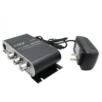 Lepy LP-808 Mini Power HiFi Stereo Car Motor Bike Amplifier with Power Supply