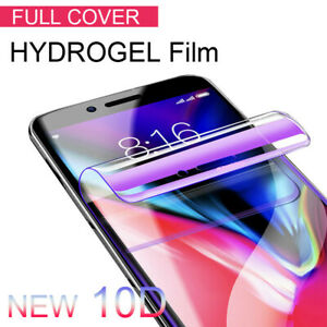 For iPhone 12 XS Max X XR 7 8 10D Curved Full Screen Protector Hydrogel Film For