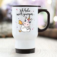 """Thermo Becher Einhorn Unicorn """"Ich habe mich gewogen"""" TB199 Cup to go Kaffee"""
