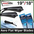 """19"""" & 18"""" // Aero Flat FRONT Wiper Blades to fit SUZUKI IGNIS 2003 onwards"""