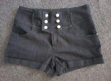 JAY JAYS High Waisted Blue Denim Stretch Shorts Sz 16 NEW