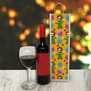 Personalised Wine Box Elf Yourself Elf Body Great Christmas Gift Add Any Photo