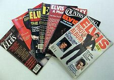 ELVIS PRESLEY Lot Of 7 MAGAZINES (2) Tributes History PHOTOS RARITIES THE KING