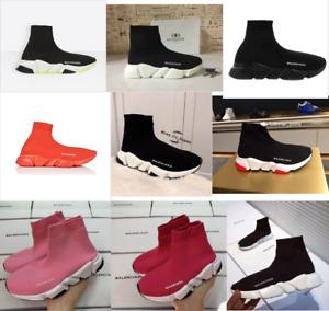 Women Men Designer Style Knit Speed Sock Runner Trainers Sneakers shoes New