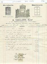 Dépt 41 - La Ferté Saint Cyr - Belle Entête d'un Menuisier Ebéniste - 01/02/1910