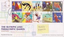 TALLENTS PMK GB ROYAL MAIL FDC 2011 OLYMPIC & PARALYMPIC GAMES STAMP SET