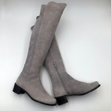 £650 NEW Stuart Weitzman Suede Leather Over The Knee Boots Shoes Size 37 US6.5