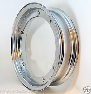 "Scooter Chrome Wheel Rim For Vespa Models 2.1 x Width 10"" PK.PX,50,90,150, 200"