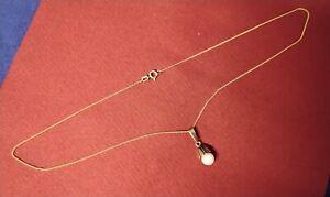 Goldkette 333 und Anhänger 333 mit Perle = 2,03 Gramm