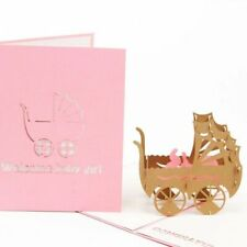 Folding Type Pattern 3D Laser Cut Baby Party Invitation Cards Cartoon Styles New