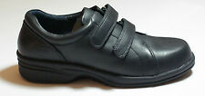 Navy Leather Professional Flat Shoes High Quality Girl Guides UK Size 8 #132