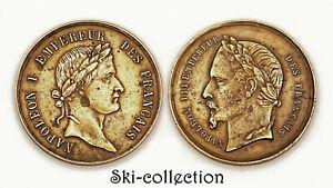 Jeton NAPOLÉON I° EMPEREUR DES FRANÇAIS- NAPOLÉON III°. Bronze