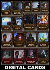 Topps Star Wars Card Trader TRANSMISSION [17 CARD MOTION SIGNATURE/BASE SET]