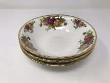 3 x Royal Albert Old Country Roses 1962 Cereal/ Soup Bowls