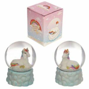Collectable Rainbow Unicorn Snow Globe Ornament Glitter Shaker Ornament Gift