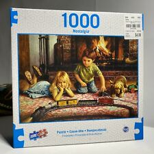 "Nostalgia Collection 'Firelight Express' 1000 Piece Puzzle 27""x19"" Sure-Lox"