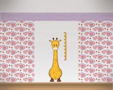 Messlatte Giraffe Wandtattoo Aufkleber Kinderzimmer Metermaß Maßband 46 x 130cm