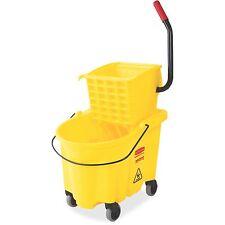 Rubbermaid Commercial Commercial Mop Bucket w/ Wringer Wavebreak 26Qt Yellow