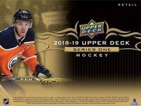 2018-19 Upperdeck Series 2+ Series 1 FULL Team set VANCOUVER CANUCKS (13 cards)