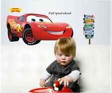 Cars Lightning McQueen Wall Sticker Decal Mural  Removeable Nursery  Decor hot