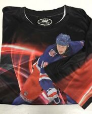 NY Rangers NHL Three 60 Black Tee Shirt 2X Marc Staal One Of A Kind