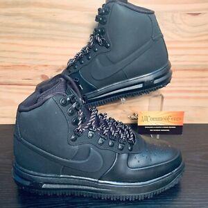 Nike Lunar Air Force 1 Duckboot Men's Size 9 Triple Black Waterproof AF1 NEW