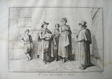 1816 BARTOLOMEO PINELLI ENGRAVING BLIND MAN MUSICIAN SINGING COSTUMES OF ITALY