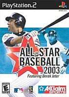 All-Star Baseball 2003 (PlayStation 2, PS2) Disc Only Tested Fast Free Shipping
