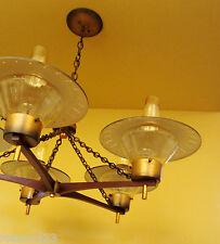 Vintage Lighting Mid Century large 33 wide Ranch Cabin chandelier