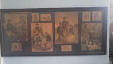 "STUNNING Antique early Victorian Framed Print   ""Collage of children""-10 images"